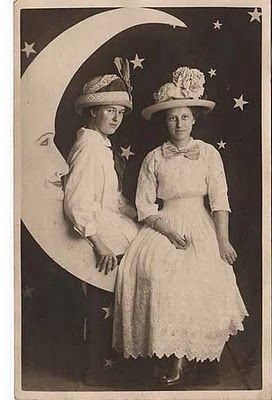 amazing dresses and hats on a paper moon