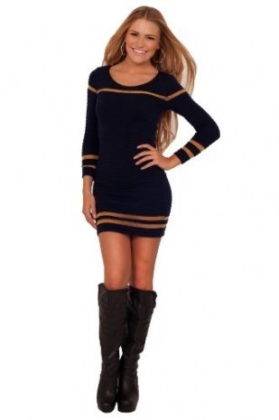 Long Sleeve Fitted Dresses For Juniors