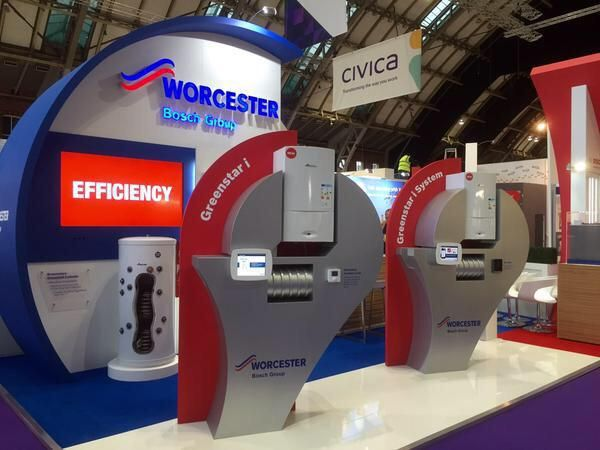 @heatingyourhome stand complete. Come along to @CIHhousing and say hi to the Worcester Bosch team