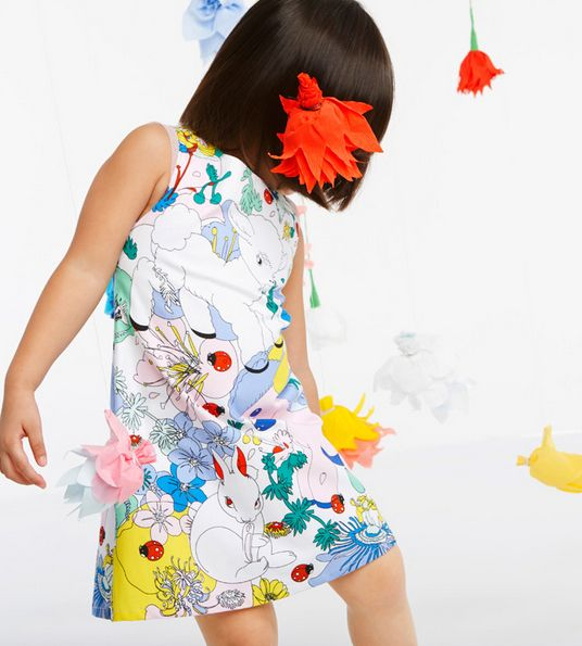 Stunning story print at Anne Kurris for spring 2015 kidswear