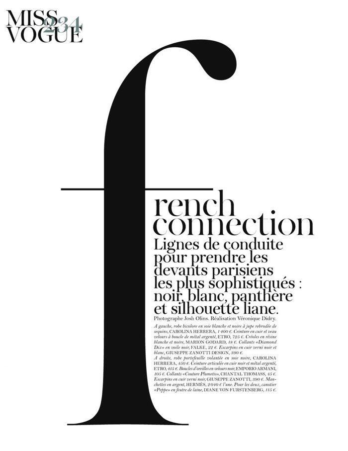 ELEMENTS MAGAZINE: Vogue Paris September 2011: French Connection
