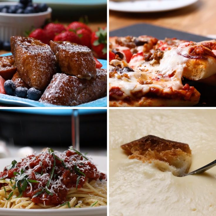 One Top 4 Ways - Fondue, Tasty Pasta, Pizza, French Toast.