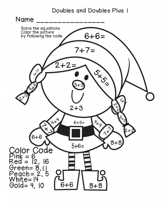 holiday math practice math practicesfree coloringcoloring pageschristmas - Free Coloring Christmas Pictures 3