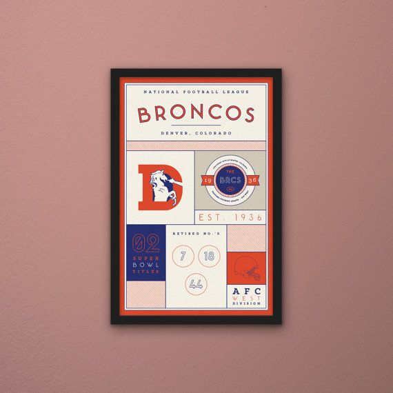 Denver Broncos Stats Print by PortlySportsman on Etsy