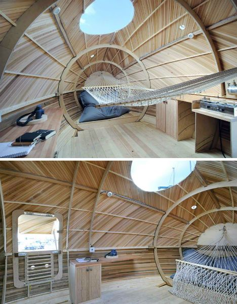 Floating Egg-Shaped Office is a Self-Sustaining Work Space ~ Kinda cool!   =]