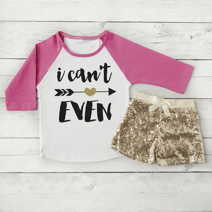 I Can't Even Toddler Shirt Raglan Girl Clothes Gold Sequin Shorts Hipster Baby Clothes Girl Gift Trendy Toddler Girl Clothing Outfit Set 053