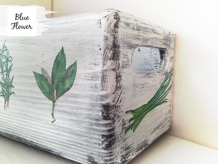 wooden box for herbs