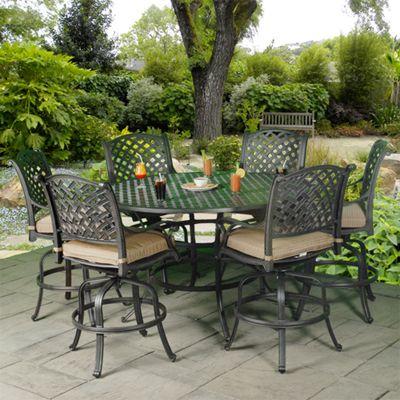 Patio Furniture | Castle Rock Cast Aluminum Gathering Height Set   American  Sale