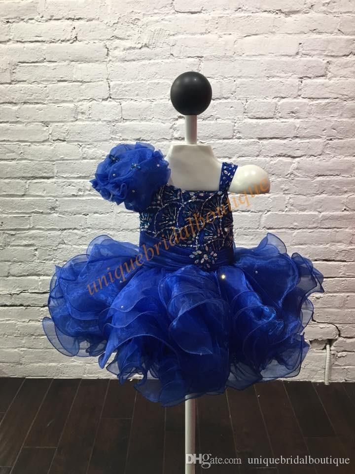 Toddler Pageant Dresses 2017 Hot Same With Big Flower And Fan Shaped Beading Real Photos Cupcake Little Girls Pageant Dress Tiered Skirts Designer Dresses For Girls Designs Of Gowns From Uniquebridalboutique, $74.33| Dhgate.Com