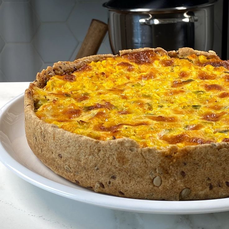 Tarta de Calabaza y Choclo con Masa Integral con Semillas Quiches, Healthy Meats, Healthy Recipes, Greens Recipe, Kitchen Recipes, Cooking Time, Macaroni And Cheese, Veggies, Food And Drink