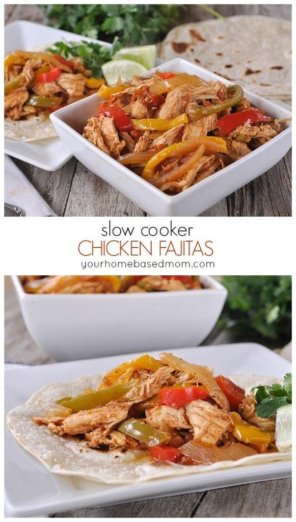 Slow Cooker Chicken Fajitas are definitely a winner! They have a delicious smoky flavor and are so easy to make.  CROCK POT CHICKEN FAJITAS RECIPE