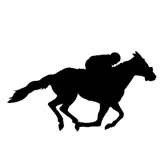 Horse Racing Silhouette Cake