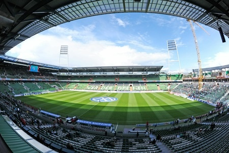 Amazing view of the Weser Stadium, home of the German soccer team SV Werder Bremen