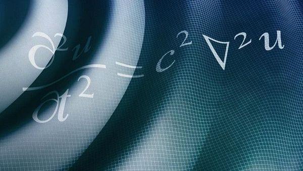 La ecuación de la onda. Se aplica a todo tipo de ondas, desde las de agua a las de sonido y vibraciones. Incluso a las ondas de luz y radio.