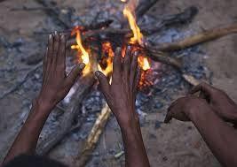 Hands around the fire