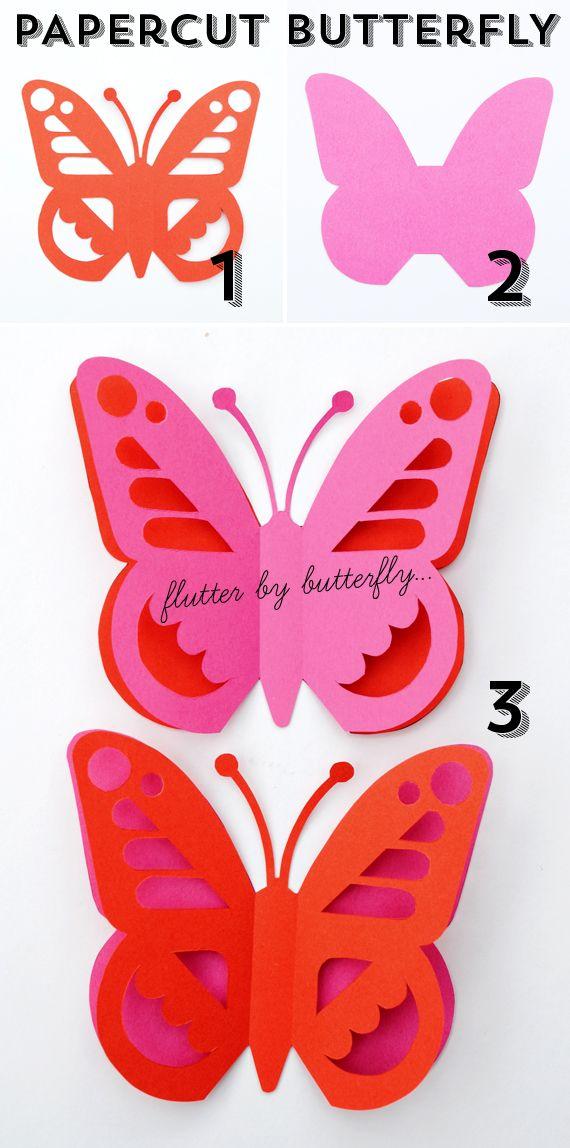 Papercut butterfly