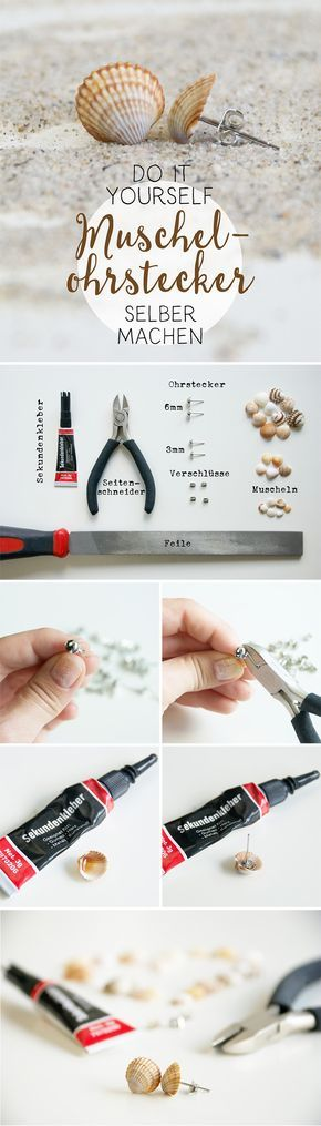 DIY - Muschelohrstecker einfach selber machen - Anleitung