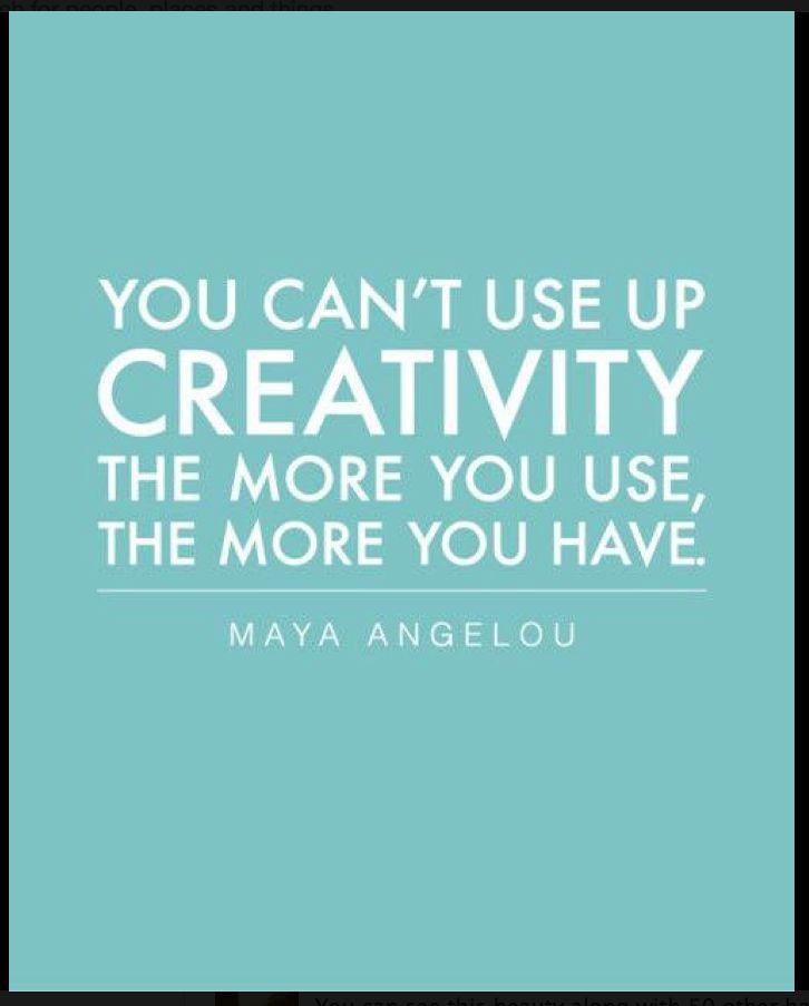 Graphic design #TYPOGRAPHY Maya Angelou on Creativity