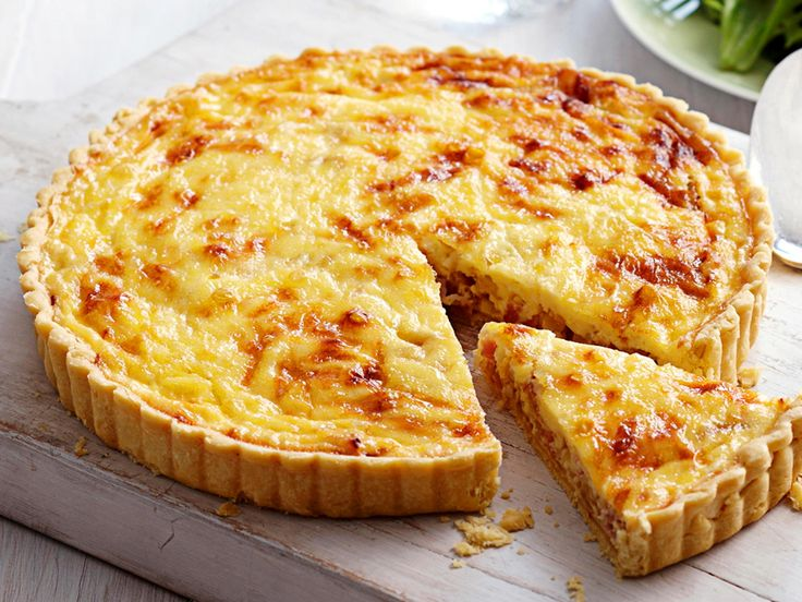 This is the traditional French savoury quiche recipe made with bacon, egg and cream. If you're not a confident pastry cook, you can make this dish using a sheet of frozen shortcrust pastry.