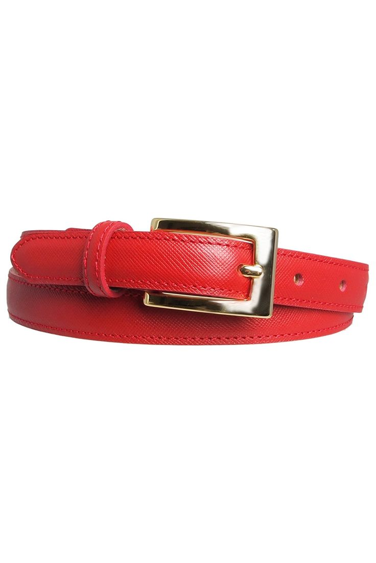 Womens Saffiano Leather Belt