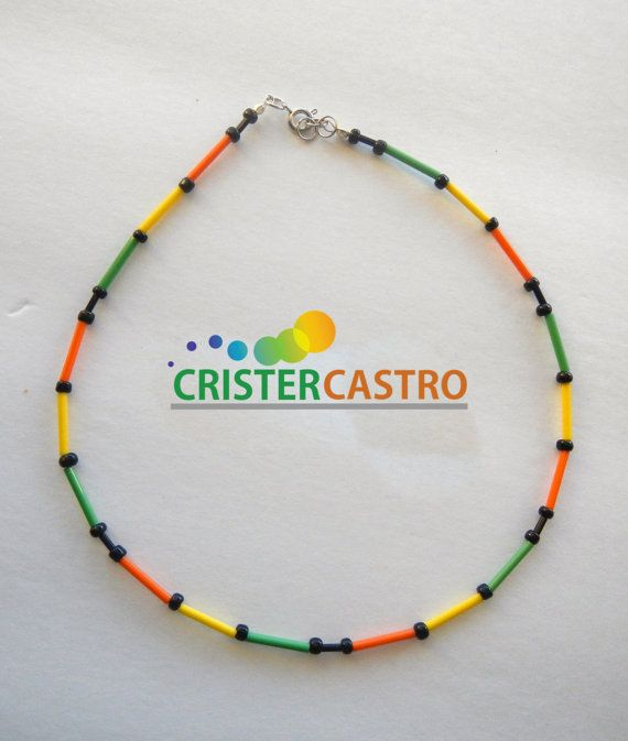 Necklace Rastafarian Design by cristhercastro on Etsy, $4.99