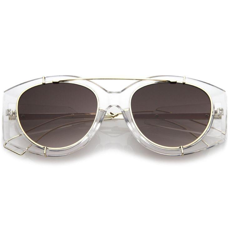 Retro Modern Translucent Round Aviator Sunglasses C328