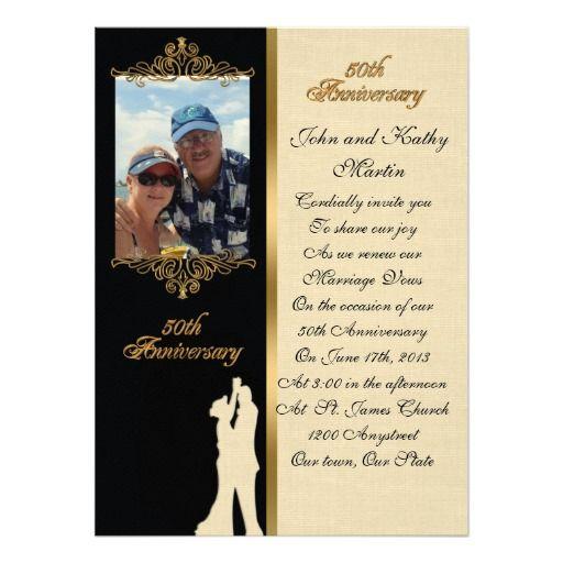 50th Anniversary Vow Renewal Invitation Elegant