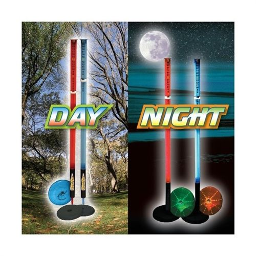 Lighted Beersbee Poles Game we need these for the next beach vacation or just the back yard