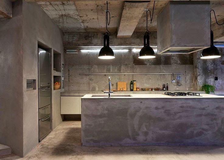 Singular y excepcional apartamento japonés hecho integramente de cemento