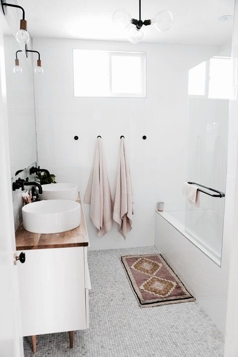 Color tones, white bathroom, spa
