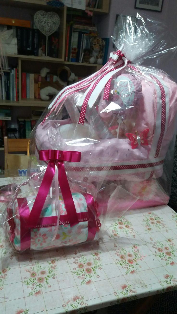 Diy diaper carriage and diaper purse for girl... ready to deliver