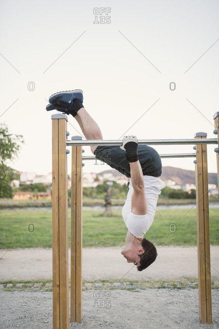 Athlete man- training- outdoor