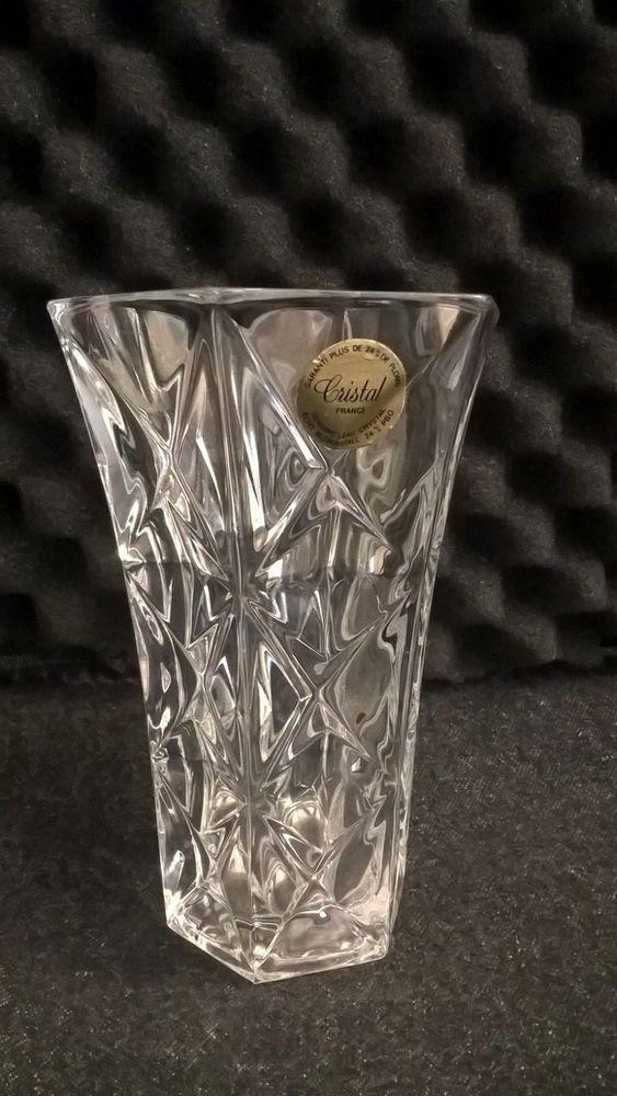 Cristal Darques France Genuine Lead Crystal Vase.5 Inch Cristal France 24 Genuine Lead Crystal Garanti Plus De 24