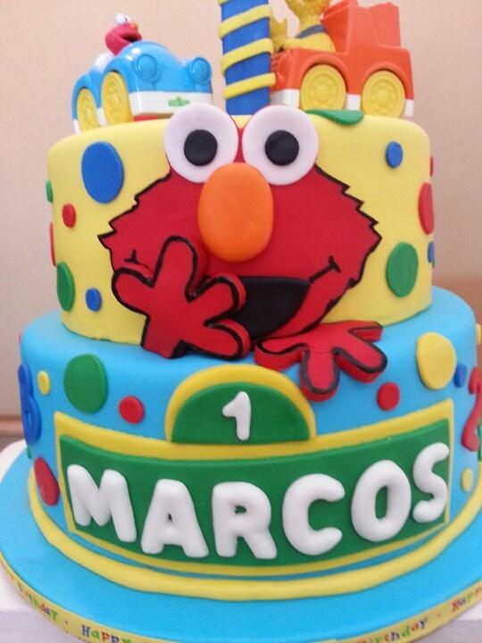 Elmo, sesame street cake