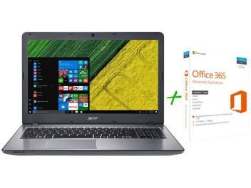 "Notebook Acer Aspire F5 Intel Core i7 8GB 1TB LED - 15,6""GeForce 4GB Windows 10 + Microsoft Office 365"