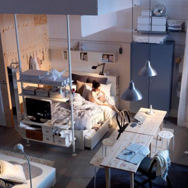 1000 ideas about student room on pinterest double room dorm room and cool - Amenagement petit espace ikea ...