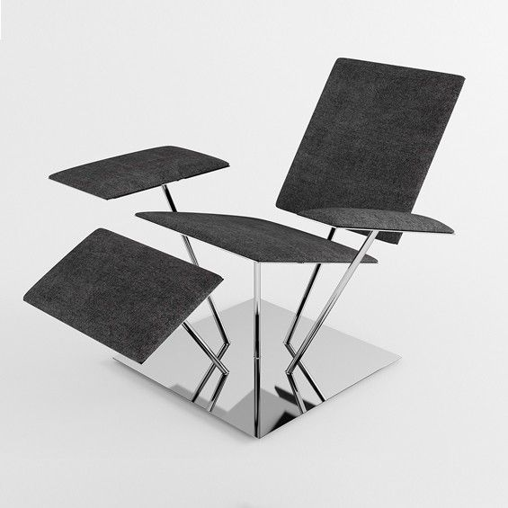 Dmitry Kozinenko propose UP, un fauteuil déstructuré dont tous les ...