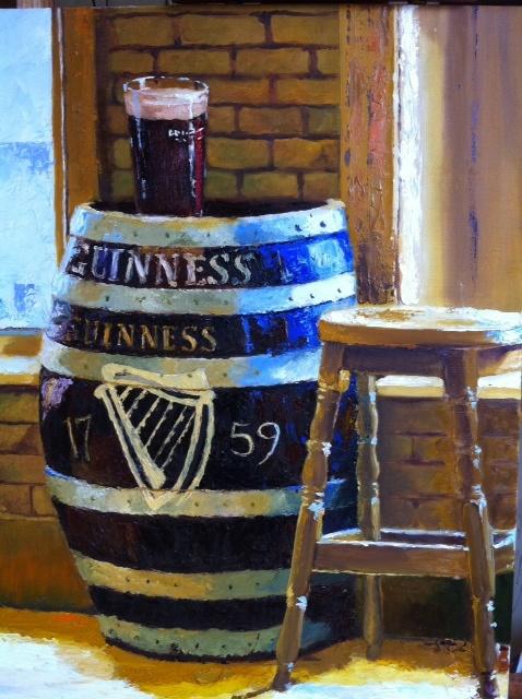 Guinness Keg  Oil on Canvas  18 x 24
