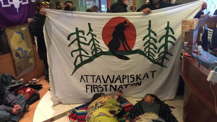 The protests began in Toronto, wherearound 30 people took over part of the Indigenous Affairs office on April 13.  One day later, a similar occupation began in the department's downtown Winnipeg office.  Demonstrationshave since been held outside offices in Regina and Gatineau, Que.