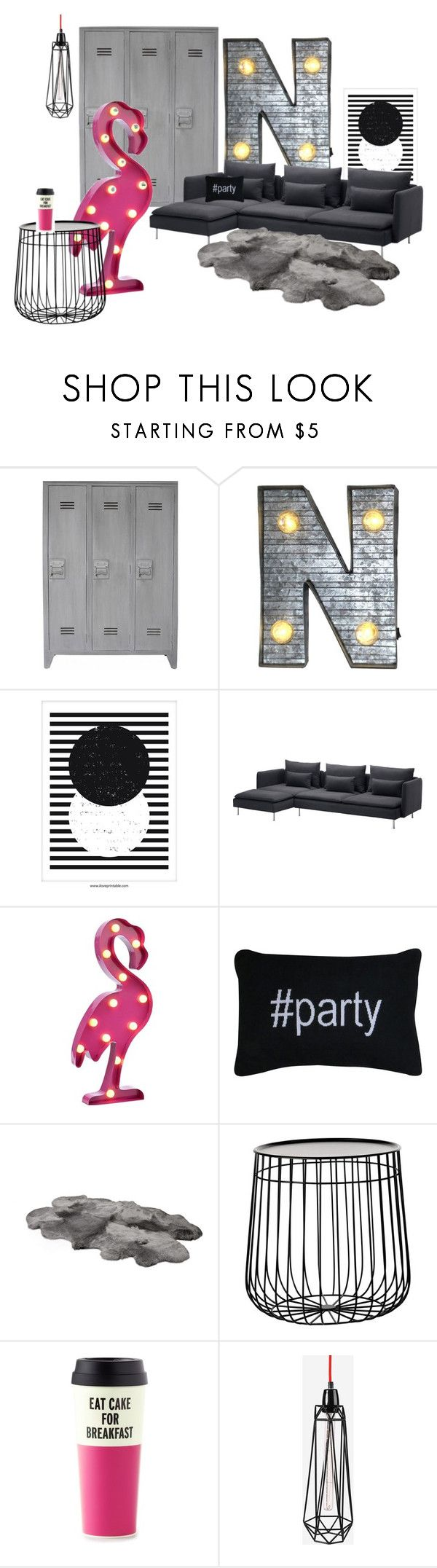 Natascha`s room 2016 by inger-malmgaard-petersen on Polyvore featuring interior, interiors, interior design, home, home decor, interior decorating, Pols Potten, FilamentStyle, Crystal Art and Kate Spade