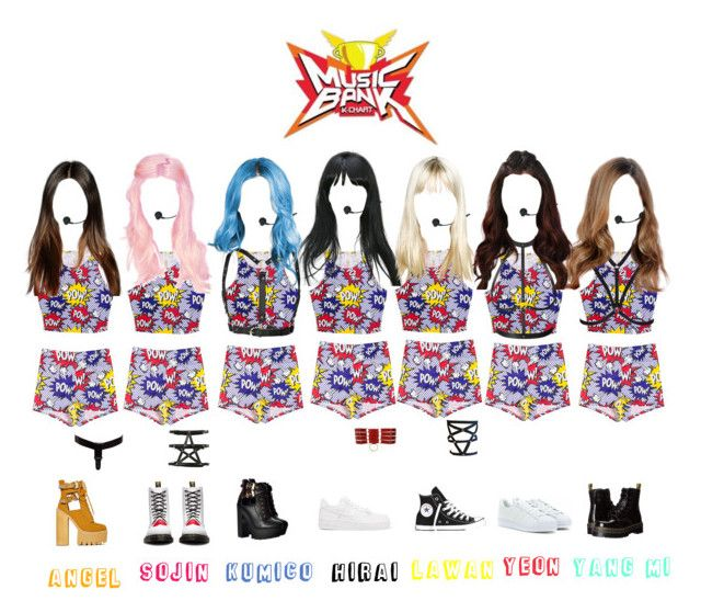 """""""Ice kiss (얼음 키스)  - Girl Power [Music Bank Hot Debut / 2017.07.19]"""" by official-icekiss ❤ liked on Polyvore featuring Zana Bayne, Hot Topic, Bordelle, OuiHours, Atsuko Kudo, Converse, NIKE, Dr. Martens, Jeffrey Campbell and FARIS"""