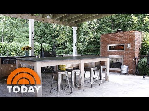 Bobby Flay Reveals His Favorite Room: His Outdoor Kitchen | TODAY TODAY  Contributor Jill Martin Heads To Long Islandu0027s Tony Hamptons For A Look At  Bobby ...