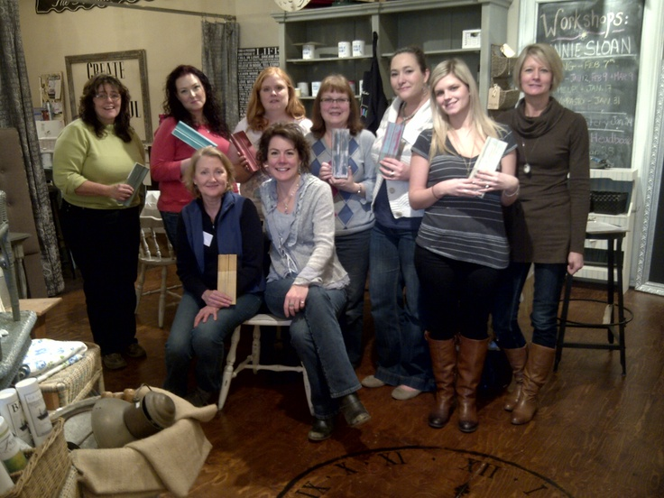 Jan 2013, Another amazing group of beautiful ladies spending a creative day together with Chalk Paint!