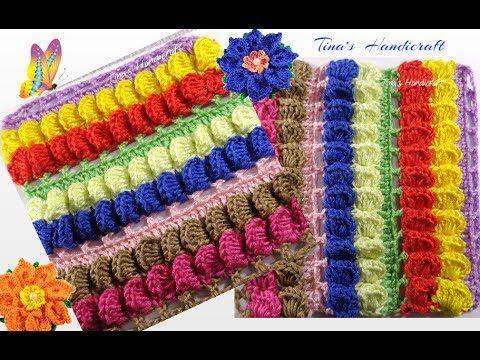 Crochet Textured Striped Stitch  No 29