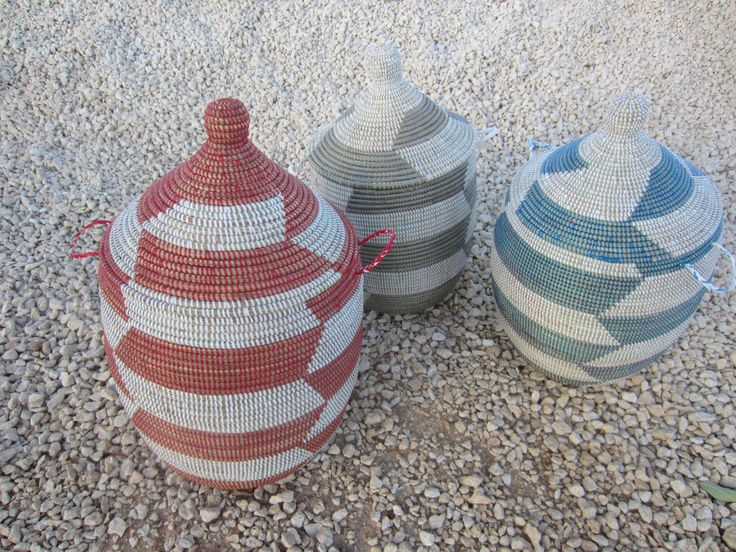 African Laundry Hamper with Lid, Red and White  Storage Hamper, Custom Made Laundry Basket, Herringbone, Wäschekorb, Cesto by africanbaskets on Etsy