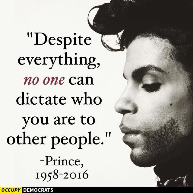 Prince Rogers Nelson He was a light in a world that' can be, all too often, very dark. Though he is gone, that light will continue shine on forever. Rest easy
