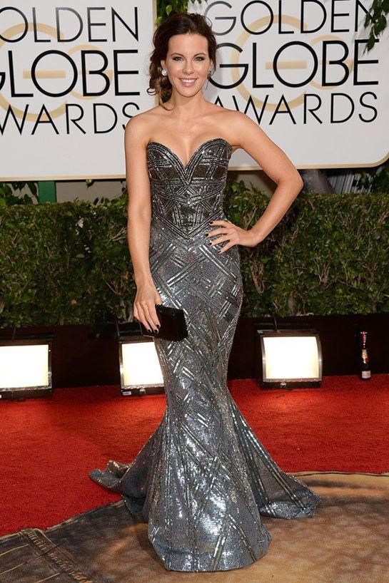 The Golden Globes 2014: Kate Beckinsale, Zuhair Murad Couture, Edie Parker, Lorraine Schwartz, Chopard