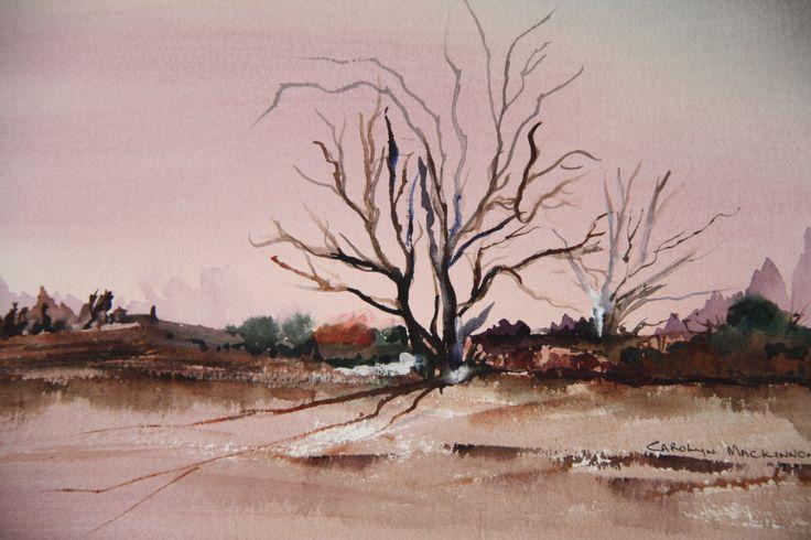 "Solitude"" water colour by Carolyn Mackinnon"