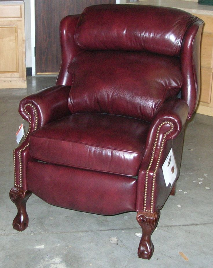 Still A Classic Ball And Claw Wing Back Leather Recliner