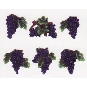GRAPE 3 Dimensional Magnet Set Of 6 Magnets *NEW!* · Grape Kitchen  DecorKitchen ...